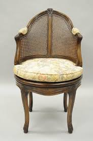 vintage french country louis xv style revolving vanity chair or stool item features a