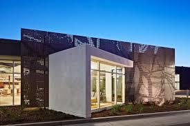 office facade. Contemporary Office Building That Make Impressive: Design Architecture With Unique Box Facade A