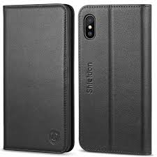 shieldon iphone xs iphone x genuine leather wallet flip cover iphone 10 case with