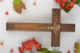 decorative crosses wall hanging wooden cross handmade wall cross housewarming gift ideas wall decor madeheart