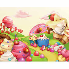 candy wonderland background. Simple Candy Candy Bar Background Cupcakes Donuts Icecream Path Dessert Wonderland  A Photo Decorations Cloths Polyesterin From Consumer Electronics On  Inside R