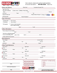 Applying For Business Credit Corporate Credit Application Rome Fontanacountryinn Com