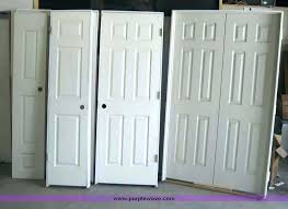 hung doors colonist interior four are one is double with best prehung closet installing top hanging