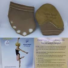 Details About New Dance Paws Basic Half Sole Protection Lyrical Shoe Genuine Dark Nude