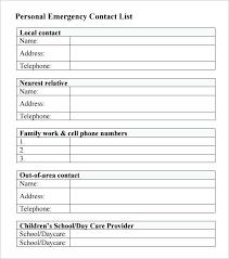 Contact List Spreadsheet Template Business Contact Template
