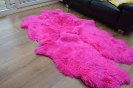 our gallery of shining inspiration pink sheepskin rug royal dream large heavenly traditional gifts