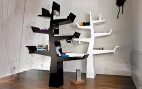 White modern bookshelf Amazon Com Black And White Modern Tree Bookshelf People Cool And Creative Treelike Bookshelves Digsdigs