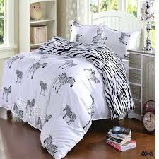 zebra bed set black and white zebra bedding set queen double full twin size duvet cover