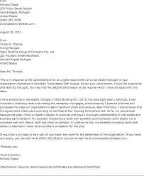 Real Estate Sample Letter Cover Letter Sample For Real Estate Job