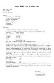 Pta Templates Pta Meeting Minutes Template Membership Cards Minutes Format Meeting