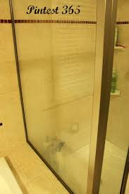Pintest 365.: Day 73: Cleaning Soap Scum off Shower Doors (success).