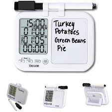 new quad kitchen timer w whiteboard bar cooking dining home gift