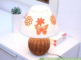 image titled decorate. Image Titled Decorate A Lampshade With Foam Shapes Step 9