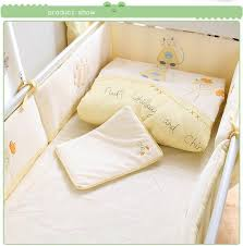 100 cotton baby bedding set baby cot bedding sets 7 piece baby crib bedding set
