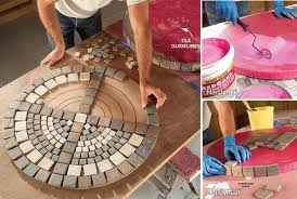 tile outdoor table. Outdoor-mosaic-table Tile Outdoor Table