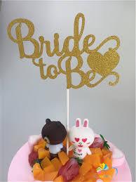 <b>10x15cm</b> Gold Glitter Bride to Be Cake Topper <b>Bachelorette Party</b> ...