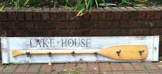 Boat Oar Coat Rack Paddle Hook Coat Rack House Oar Sign 100 BEACH Or LAKE 24