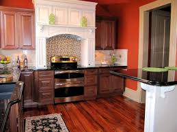 Orange Kitchens Orange Kitchen Brown Cabinets Quicuacom