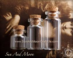 glass vials cute small mini jars bottles vials with cork for pendants and keepsakes