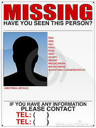 Poster Missing Missing Clipart Person Person