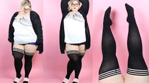 Plus Size Thigh Highs That Stay Up Kixies Review Youtube