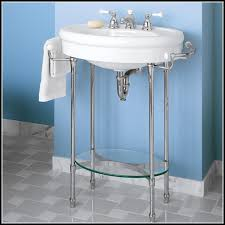 double console sink metal legs