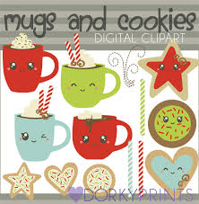 christmas mug clipart. christmas clipart mugs and cookies -personal limited commercial use- kawaii from dorkyprints on etsy studio mug