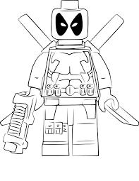 Coloriage Lego Deadpool Imprimer