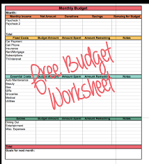 Easy Budget Worksheet (Free Printable + Excel doc)