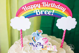 Diy Party Printables Free Mlp Rainbow Dash Birthday Party Printables