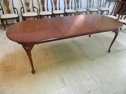 Henkel Harris Dining Table Henkel Harris Queen Anne Black Cherry Dining Table Sold