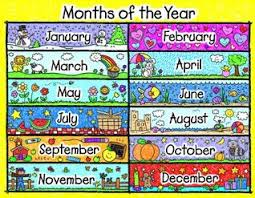 Months Of The Year Chart Book Months Of The Year Chart Kid Drawn By Not A Book