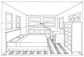 Exceptional Drawing A Bedroom One Point Perspective Drawing Interior Two Bedroom  Drawing Plans .