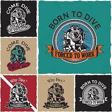 Label Design Free Diver T Shirt Labels Design Print Free Download