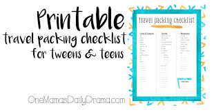 Checklist Template Word Ultimate Packing List Travel Checklist Template Yakult Co