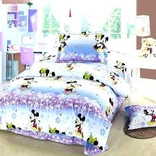 mouse twin bed set bedroom full purple and blue mickey minnie bedding queen size