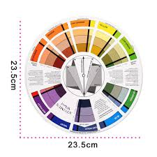 Colour Wheel Chart Colors Us 1 56 32 Off 1pc Tattoo Ink Color Wheel Chart Tattoo Permanent Makeup Accessories Micro Pigment Nail Manicure Art Color Wheel In Tattoo Accesories