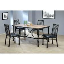 black metal dining chairs. Acme Furniture Caitlin Black Metal Dining Chair Set Of 2 Chairs With Wood Seats 4 India N