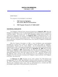 Pnp Briefing Manuscript Police Crimes