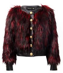 leather and faux fur jacket 129