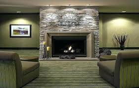 stone fireplace design stacked