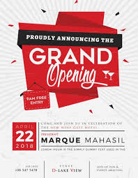 Free Grand Opening Flyer Template Grand Opening Flyer Template Design Flyer Templates Pinterest