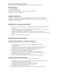 Useful International Experience Canada Resume Format On Logistician