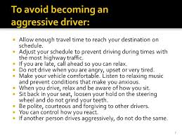 new york state dmv ch defensive driving ppt  to avoid becoming an aggressive driver