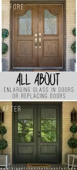 exterior doors with glass front door