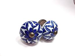 Large Antique Blue and White China Style Ceramic Knobs, Antique ...