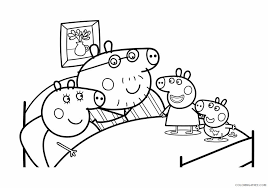 George loves playing with his sister, even though she acts bossy sometimes. Peppa Pig Coloring Pages Cartoons Peppa George Mommy And Daddy Pig Printable 2020 4831 Coloring4free Coloring4free Com
