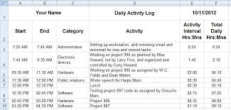 excel work log template daves tech docs creating daily activity logs through ms excel