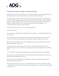 Best Photos Of Interview Notes Sample Sample Interview Thank You