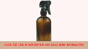 empty amber glass spray bottle large 16 oz refillable container is great for essential oils cleaning